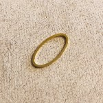 Metallelement Oval 8x16mm / gold