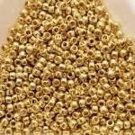Toho 8/0 - 3 mm Galvanized Lemon Gold