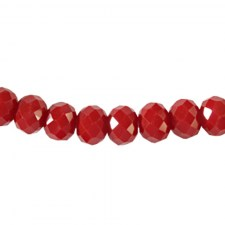 Rondelle 6x4mm Really red