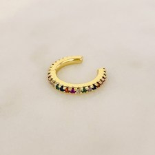 Zirkonia Rainbow Ear Cuff Gold / ANA