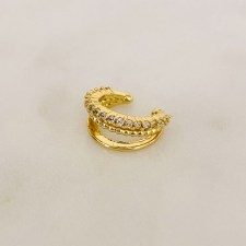 Zirkonia Ear Cuff Gold / AMY