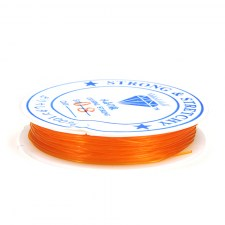 Elastisches Gummiband / orange Ø 0,7mm / 7m