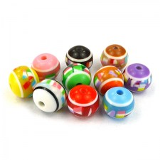 10 Stk. Resin Perlen Mix 12 mm