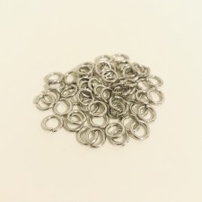 Chain Maille Ring offen G18 / HIGH QUALITY Ø 4,4mm - silber
