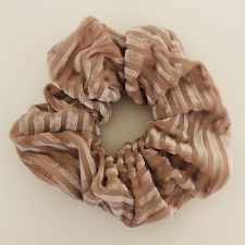 Scrunchie Samt Strip / Rosé