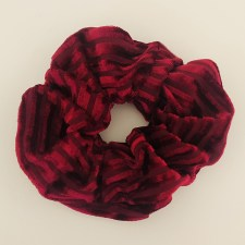 Scrunchie Samt Strip / Rot