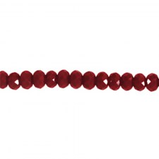 Rondelle 3x2mm Chili red